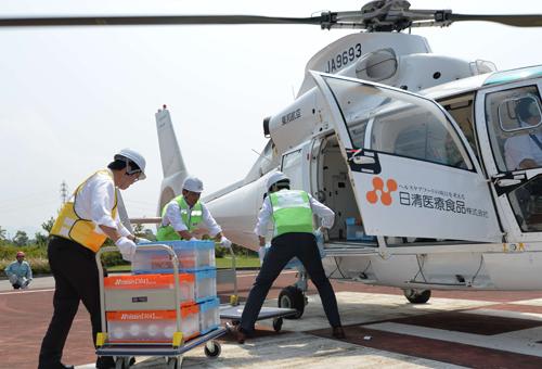 ヘリコプターを使用した訓練