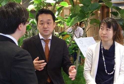 エコッツェリア協会の田口真司様と山下智子様