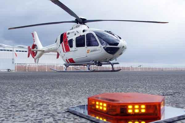 可搬型ヘリポート夜間灯火「ヘキサゴン」