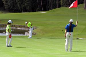 第13回小学生ゴルフクラブトーナメント決勝大会風景